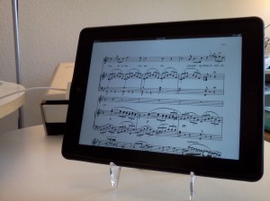 Easel as iPad stand