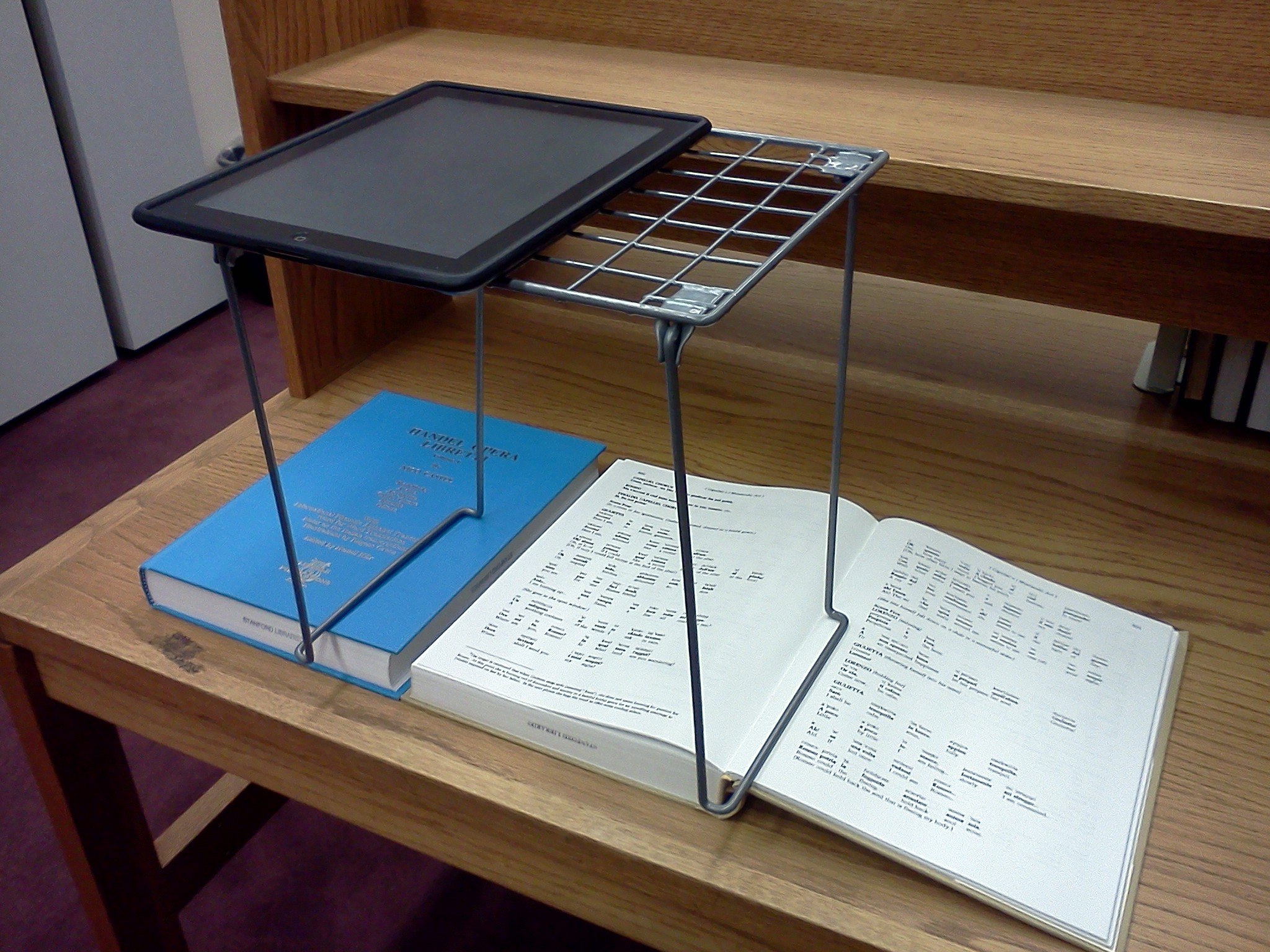 test driving a locker shelf as an ipad scanning stand With document scanning stand