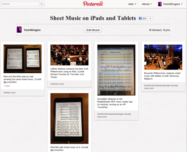 Sheet Music on iPads and Tablets - Pinterest