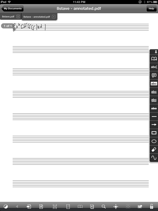 Blank paper to write on ipad