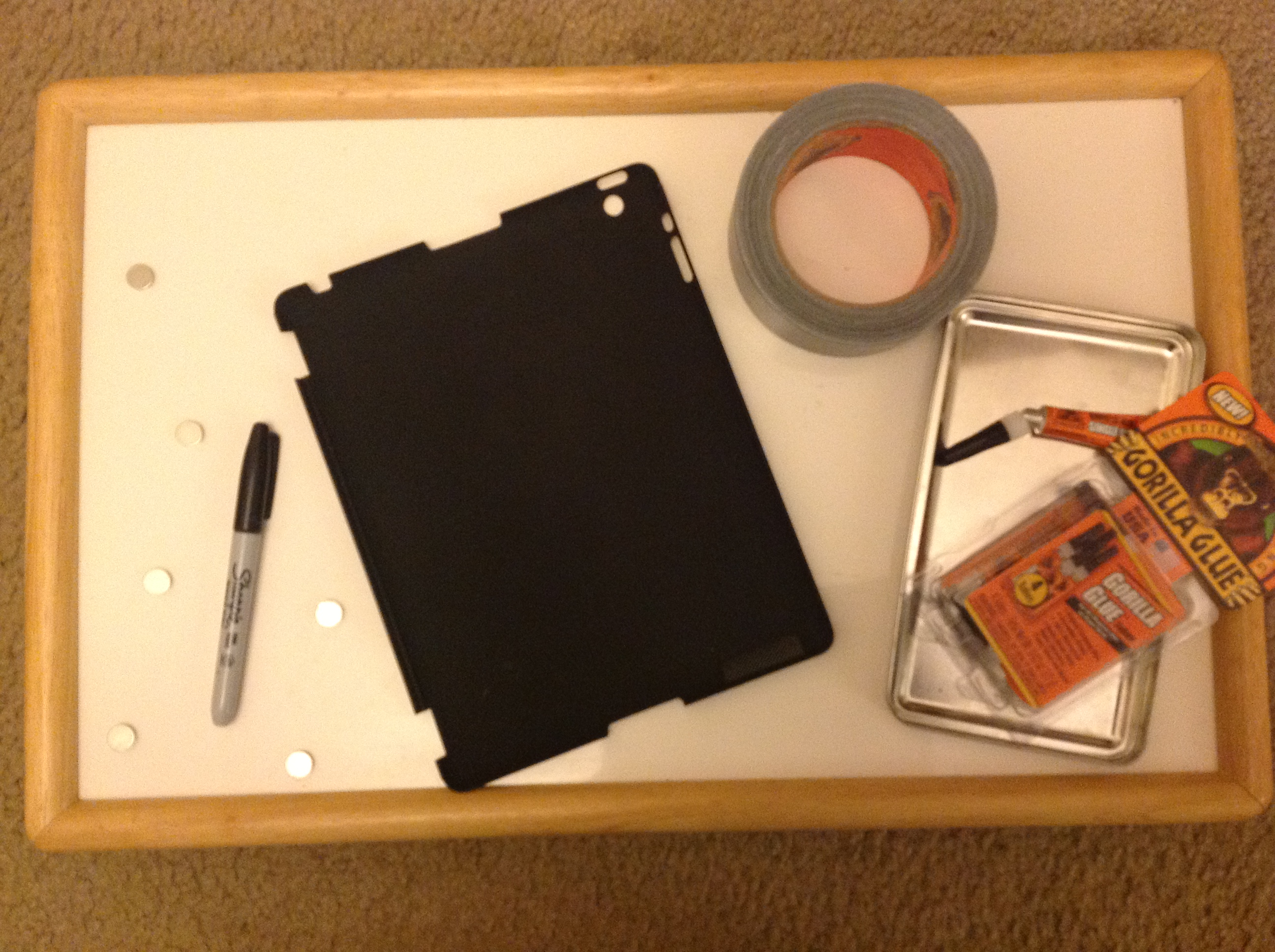 Do It Yourself Magnetic Ipad Tablet Case To Mount On A